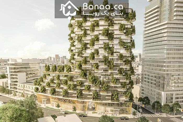 جنگلی به ارتفاع ۸۰ متر؛ پروژه جدید در تورنتو